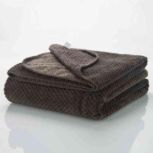 毛布 ブランケット ベッドシーツ ソファー毛布 コーヒー色 オシャレ 180*200cm
