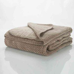 毛布 ブランケット ベッドシーツ ソファー毛布 カーキ色 オシャレ 180*200cm