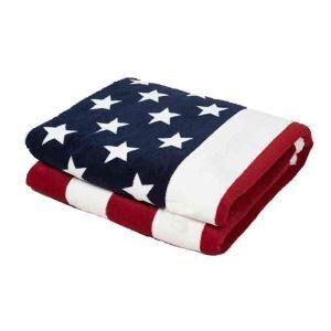 毛布 ブランケット コーラルフリース ひざ掛け 肩掛け 厚地 US国旗柄 灰色 130*160cm