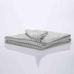 タオルケット タオル毛布 ブランケット 綿100% 縞柄 クリーム色 140*200cm プレゼント