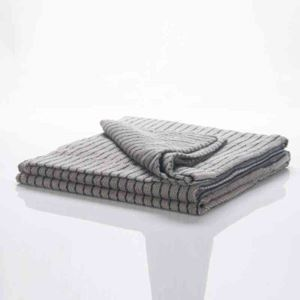 タオルケット タオル毛布 ブランケット 綿100% 縞柄 茶色 140*200cm プレゼント