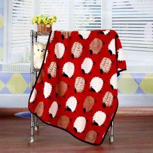 毛布 ブランケット フランネル毛布 ベビーバスタオル ひざ掛け 肩掛け 赤ちゃん用 羊柄 75*100cm