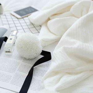 毛布 エアコン毛布 ひざ掛け サマーキルト ブランケット 手作り 毛玉飾り