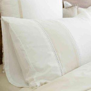 枕カバー ピロケース スプライス 白色 48*74cm