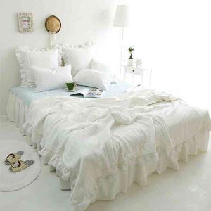 掛け布団カバー ベッドカバー サマーキルト 多用 水洗綿 白色