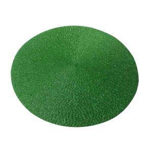 ランチョンマット プレースマット テーブルマット ビーズ編み 手作り ガラス玉 緑色 TL019
