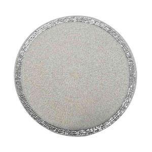 ランチョンマット プレースマット テーブルマット ビーズ編み 手作り スパンコール&ガラス玉 TL023