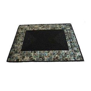 ランチョンマット プレースマット テーブルマット ビーズ編み 手作り シェル&ガラス玉 TL037
