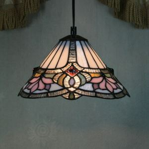 ティファニーライト ペンダントライト ステンドグラスランプ 照明器具 欧米風 ロータス 1灯