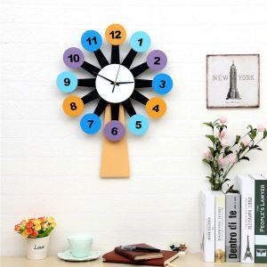 壁掛け時計 静音時計 子供屋 壁時計 時計 風車
