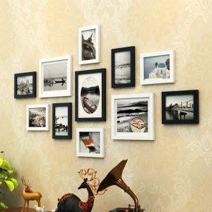 壁掛けフォトフレーム 写真用額縁 フォトデコレーション 11個セット 複数枚