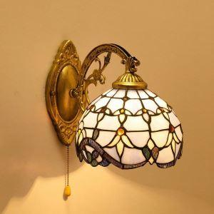 ティファニーライト 壁掛けライト ステンドグラスランプ 照明器具 ブラケット バロック風 1灯 BEH403612