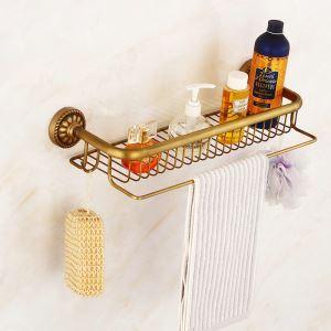 シャンプースタンド シャワーラック 浴室収納 フック付き アンティーク