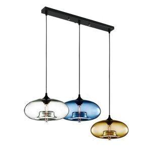ペンダントライト 照明器具 玄関照明 店舗用照明 ガラス製 茶色 3灯