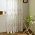 シアーカーテン オーダーカーテン UVカット 双子木柄 刺繍 レースカーテン(1枚)
