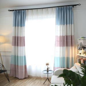 遮光カーテン オーダーカーテン UVカット スプライス柄 田園風 ハトメカーテン(1枚)