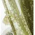 シアーカーテン オーダーカーテン UVカット 捺染 緑色 葉柄 レースカーテン 田舎風(1枚)