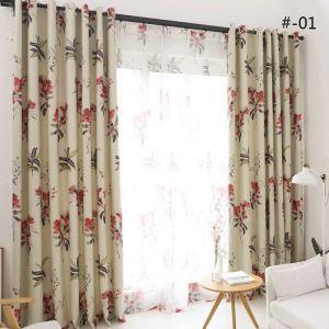 遮光カーテン オーダーカーテン UVカット ポリエステル 北欧風 2色 1級遮光カーテン(1枚)