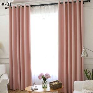 遮光カーテン オーダーカーテン UVカット ポリエステル 無地柄 現代風 2色 3級遮光カーテン(1枚)