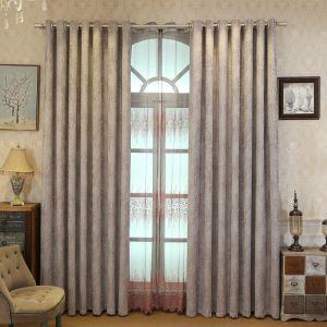 遮光カーテン オーダーカーテン UVカット 麻&綿 紫色 北欧風 3級遮光カーテン(1枚)