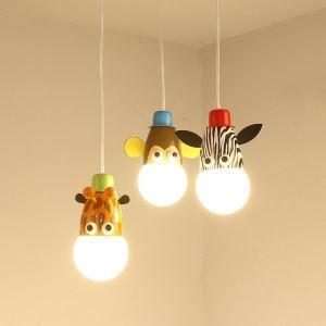 ペンダントライト 照明器具 子供屋照明 アニマル照明 天井照明 玄関照明 かわいい 3灯