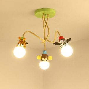 シーリングライト 照明器具 天井照明 子供屋照明 アニマル照明 3灯 翌日発送