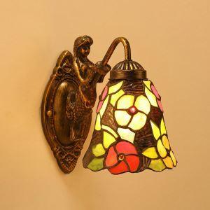 ティファニーライト 壁掛け照明 ステンドグラスランプ ブラケット 天使守護 玄関 6in 1灯