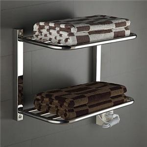 壁掛けタオルウォーマー 室内ヒーター タオルハンガー+簡易乾燥 ステンレス鋼 タオルラック付 80W