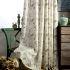 遮光カーテン オーダーカーテン 刺繍 緑色 和風 3級遮光カーテン(1枚)