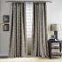 遮光カーテン オーダーカーテン 寝室 リビング 現代 捺染 灰色 1級遮光カーテン(1枚)