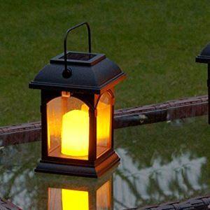 LEDソーラーライト LEDキャンドル ガーデンライト 庭園灯 ランタンライト LEH55155