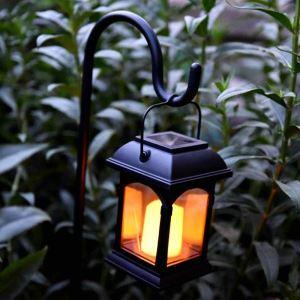 LEDソーラーライト LEDキャンドル ガーデンライト 庭園灯 ランタンライト LEH55155G