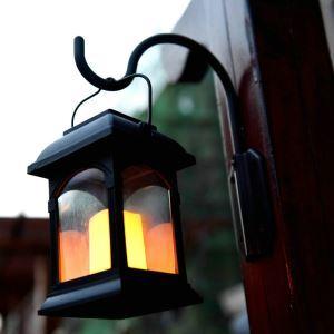 LEDソーラーライト LEDキャンドル ガーデンライト 庭園灯 ランタンライト LEH55155W