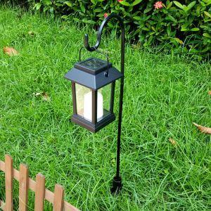 LEDソーラーライト LEDキャンドル ガーデンライト 庭園灯 ランタンライト LEH55143G