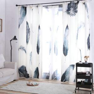 遮光カーテン オーダーカーテン 捺染 3D羽柄 3級遮光カーテン(1枚)
