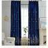 遮光カーテン オーダーカーテン 刺繍 城柄 北欧 3級遮光カーテン(1枚)