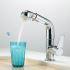 キッチン蛇口 台所蛇口 引出し式水栓 冷熱混合水栓 水道蛇口 クロム 2033B