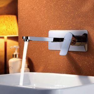 壁付水栓 洗面蛇口 バス水栓 冷熱混合水栓 水道蛇口 クロム 9104