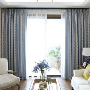 遮光カーテン オーダーカーテン ジャカード チェック柄 北欧 3級遮光カーテン(1枚)