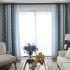 遮光カーテン オーダーカーテン ジャカード 花柄 北欧 3級遮光カーテン(1枚)