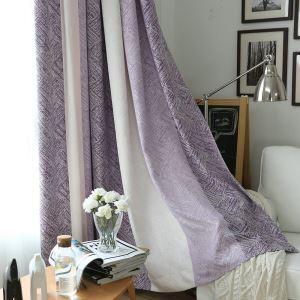 遮光カーテン オーダーカーテン ジャカード 縞柄 北欧 3級遮光カーテン(1枚)