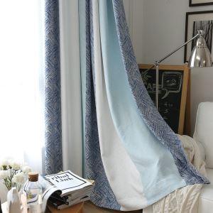 遮光カーテン オーダーカーテン ジャカード 縞柄 リビング用 3級遮光カーテン(1枚)