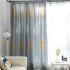 遮光カーテン オーダーカーテン 捺染 葉柄 北欧 3級遮光カーテン(1枚)