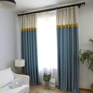 遮光カーテン オーダーカーテン ジャカード 北欧 リビング 寝室 3級遮光カーテン(1枚)