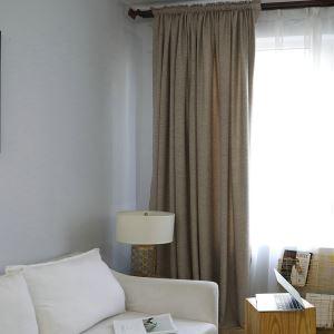 遮光カーテン オーダーカーテン 純色 北欧 リビング用 3級遮光カーテン(1枚)