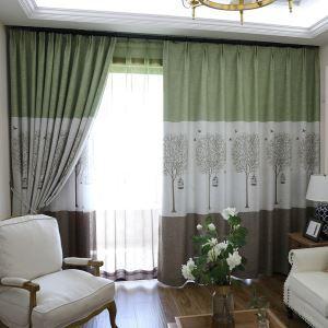 遮光カーテン オーダーカーテン 捺染 木柄 断熱 3級遮光カーテン(1枚)