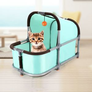 猫のハウス 猫のタワー 猫の巣 猫ベッド 組み立て DIY ボール付き 爪とぎ 遊び場 据え置き