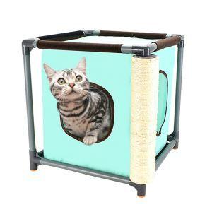 猫のタワー キャットタワー 猫のベッド スロープ面 多用途 遊び場 ボール付き 爪とぎポール 組み立て式
