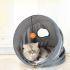 猫のおもちゃ キャットトンネル トンネルスパイラル 折り畳み 運動不足 ストレス解消 遊び