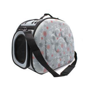 ペットキャリー バッグ ケース 犬猫兼用 ポータブル 旅行 アウトドア お出かけ ハンドバッグ トラベルバッグ 通気 M グレー